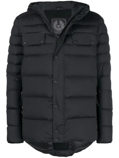 8da5323be Atlas Hooded Nylon Down Jacket in Black