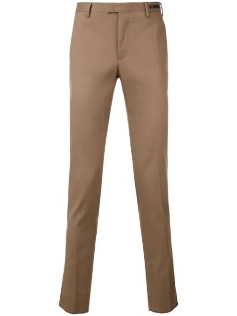 Pt01 Mid-rise Slim-fit Chinos In Neutrals