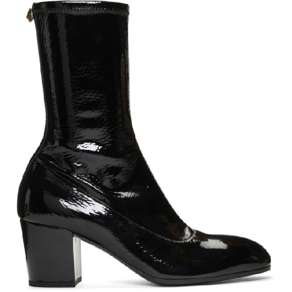 Gucci Stretch-Patent-Leather Boots - Black Pat.