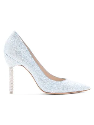 Sophia Webster Coco Crystal Heel Glitter Pumps In Ice Blue