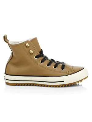 Chuck Taylor All Star Street Warmer Faux Shearling High Top Sneakers in Brown