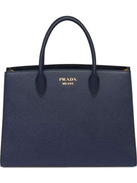Prada Bibliothèque Bag In Blue