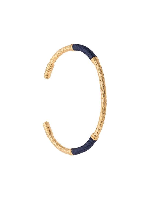 Aurelie Bidermann Textured Cuff Bracelet In Gold