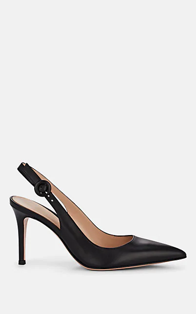 Gianvito Rossi Exclusive To Mytheresa.Com - Leather Slingback Pumps In Black
