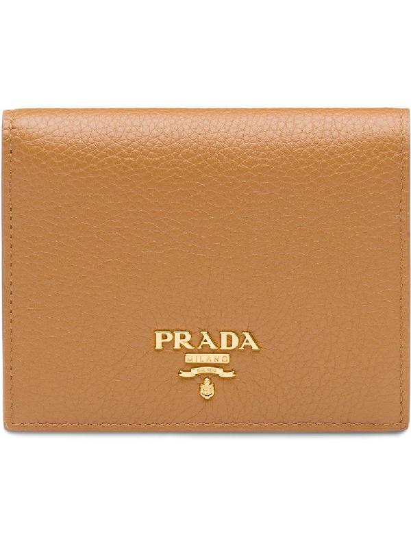 249c2ec6e542c3 Prada Small Leather Wallet - Brown | ModeSens