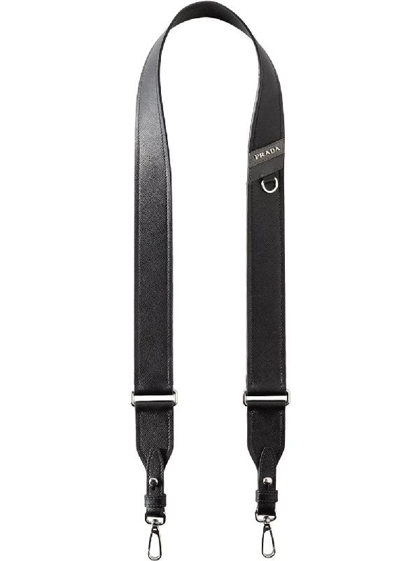 Prada Branded Shoulder Strap In Black