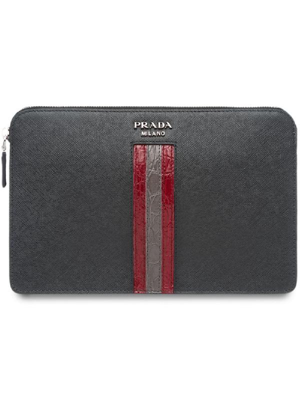 8389304102ac Prada Saffiano Leather Men's Bag - Black | ModeSens