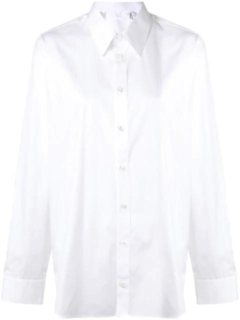 Helmut Lang Longsleeved Shirt In White