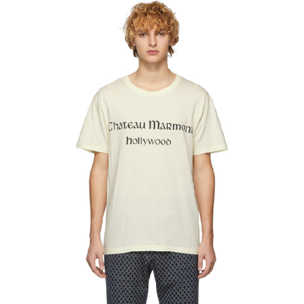 16f8b4828 Gucci Chateau Marmont Hollywood Cotton-Jersey T-Shirt In Yellow ...