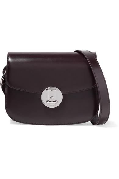 265db57480f Calvin Klein 205W39Nyc Small Round Lock Leather Shoulder Bag - Burgundy