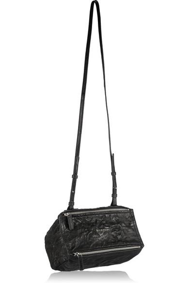Givenchy  Mini Pepe Pandora  Leather Shoulder Bag - Black  3eb4d50ffa085