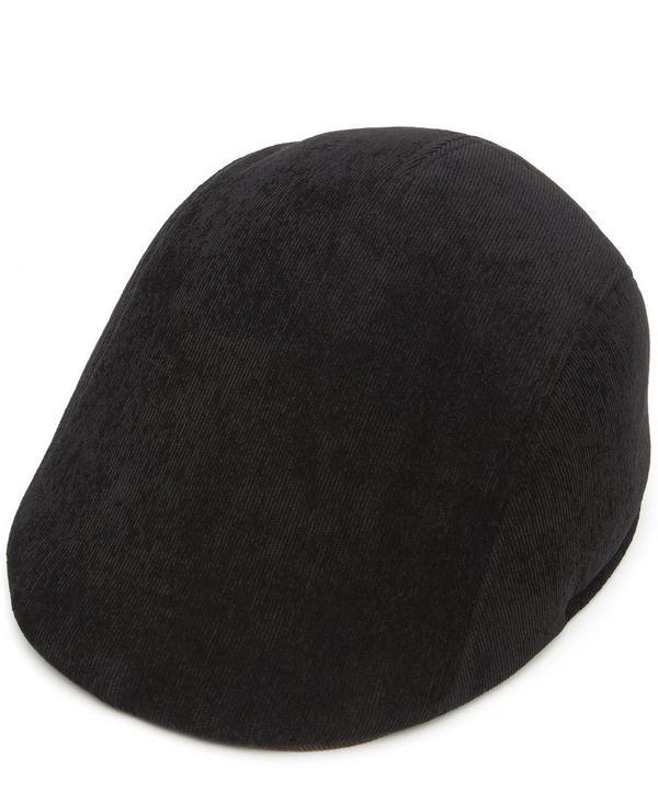 0038af6f1 Manjit Cashmere Flat Cap in Black
