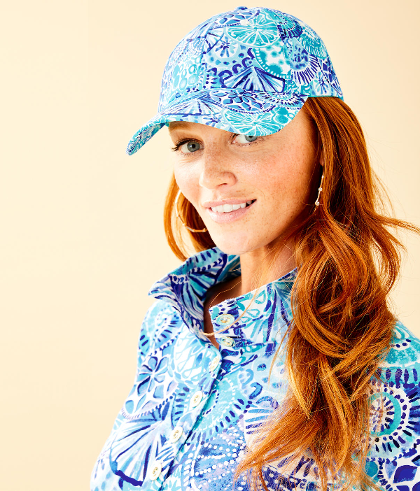 Lilly Pulitzer Run Around Hat In Multi Lilly Loves Palm Beach Small