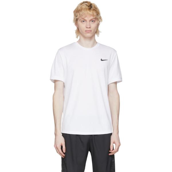 Nike White Dri-fit Tennis T-shirt In 100 White/w
