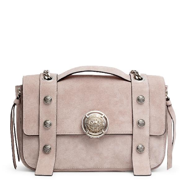 Balmain Beige Suede Shoulder Bag