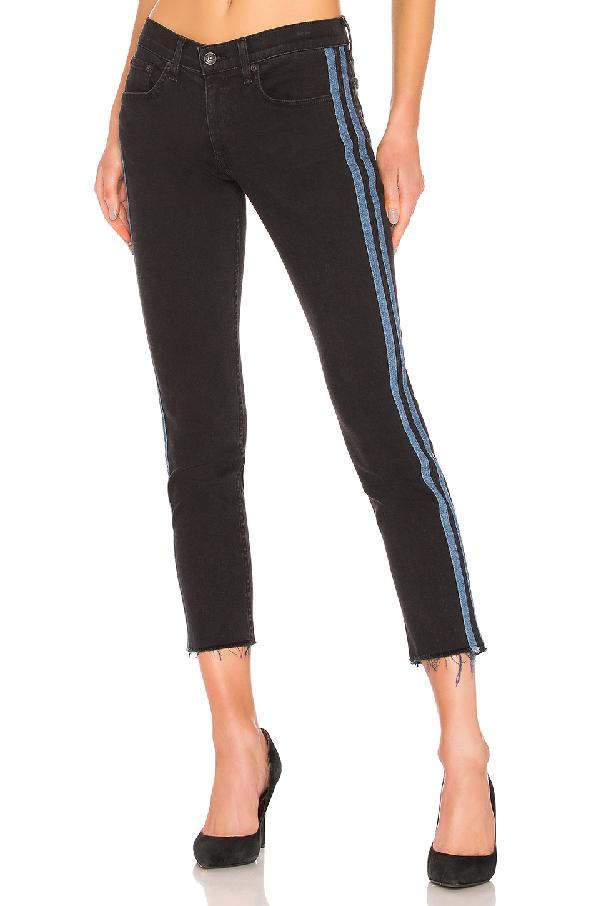 989d4215752bbb Rag   Bone Ankle Dre Mid-Rise Skinny Jeans W  Side Stripes In Stone ...