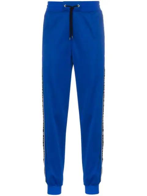 Givenchy Windbreaker Logo Stripe Jersey Track Pants In Blue