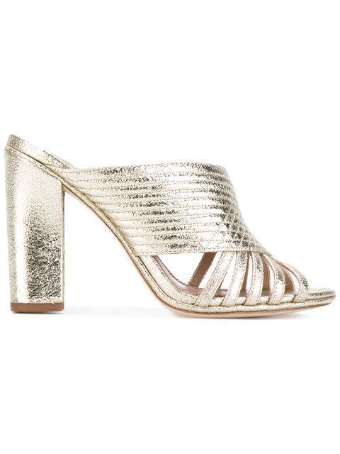 e29f3867d Tory Burch 'Brida' Quilted Open Toe Mule (Women) In Gold | ModeSens