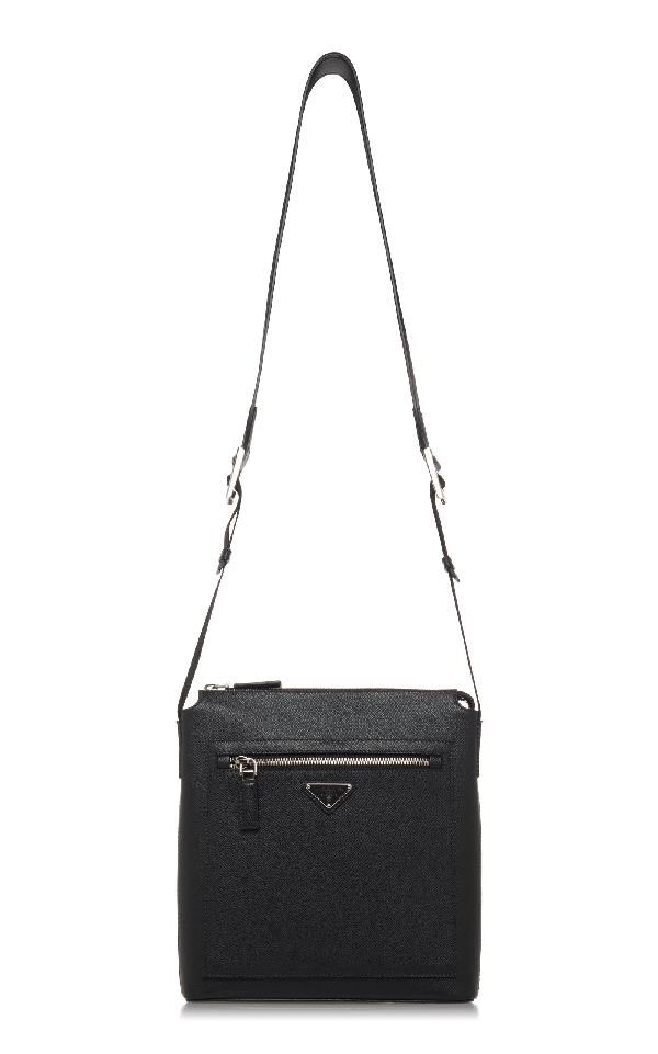 Prada Black Crossbody Bag With External Zip Pocket