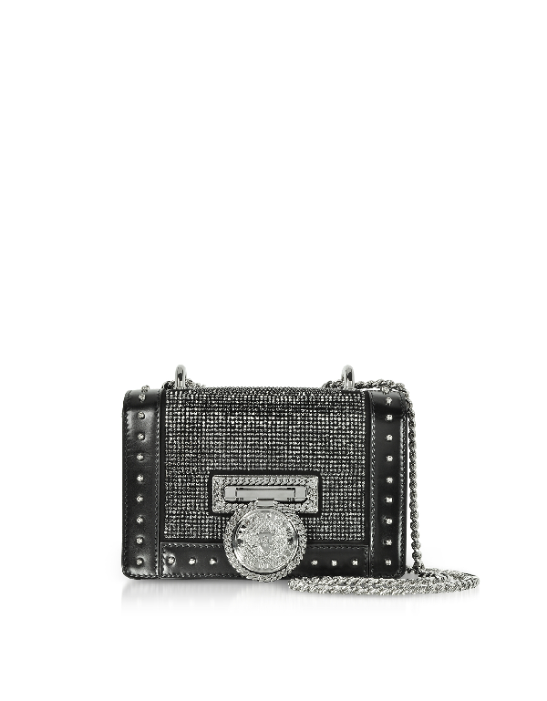 fe34be5490 Balmain Baby Box Crystal & Leather Shoulder Bag In Silver | ModeSens