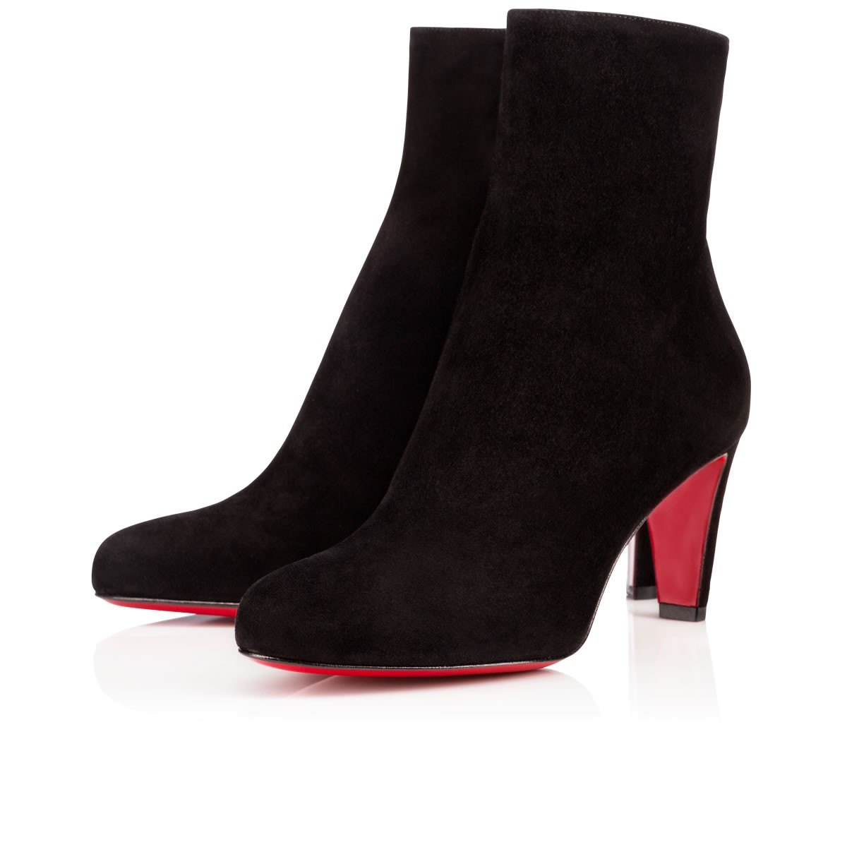 Christian Louboutin Tiagadaboot Suede 70Mm Red Sole Bootie, Black, Cognac