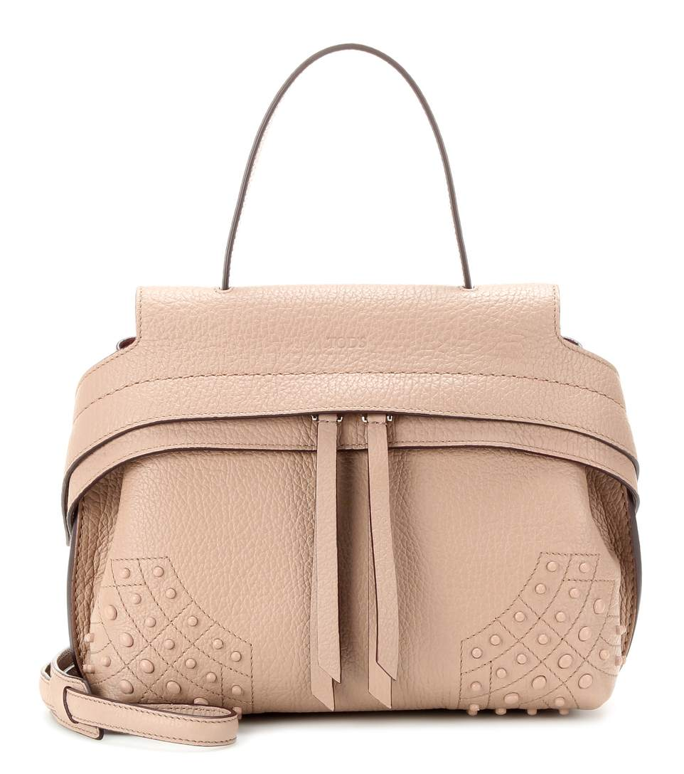 Tod's Wave Mini Gommini Leather Satchel In Pale Pink