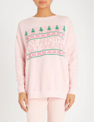 Wildfox Christmas Sweater.Not Another Ugly Sweater Sweatshirt 100 Exclusive In Romantic