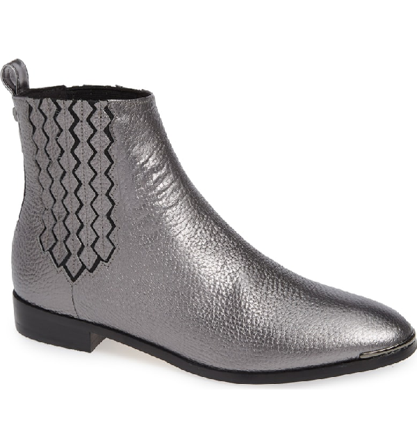 various styles best place amazing selection Liveca Chelsea Bootie in Gunmetal Leather