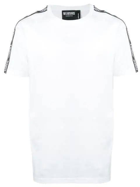 Versus Logo Stripe T-Shirt In B1001