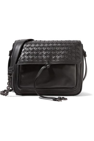 83b7d697169f Bottega Veneta Medium Intrecciato Flap Tie-Front Shoulder Bag