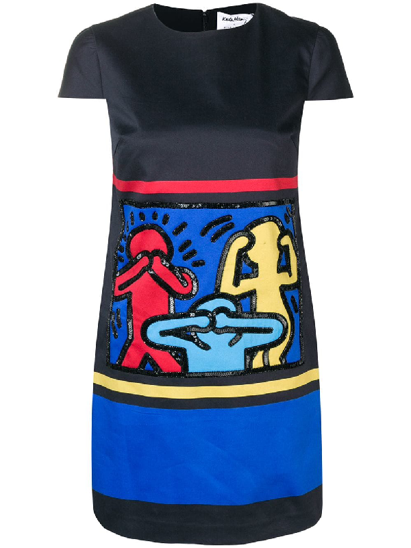 0e3315ace1e Alice And Olivia Keith Haring X Alice + Olivia Clyde Embellished A-Line  Shift Dress