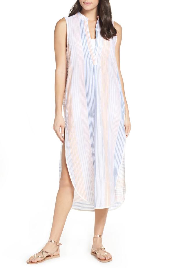 42d460d17f Red Carter Avi Striped Sleeveless Coverup Dress In Amber | ModeSens