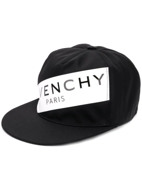 Givenchy Men's Logo Flat-Bill Hat, Black/White