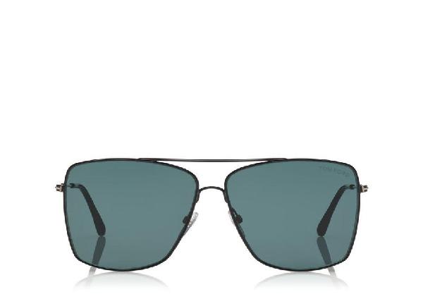 Tom Ford Magnus 60Mm Aviator Sunglasses - Gold/ Smoke