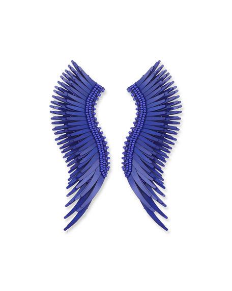Mignonne Gavigan Madeline Beaded Statement Earrings In Blue