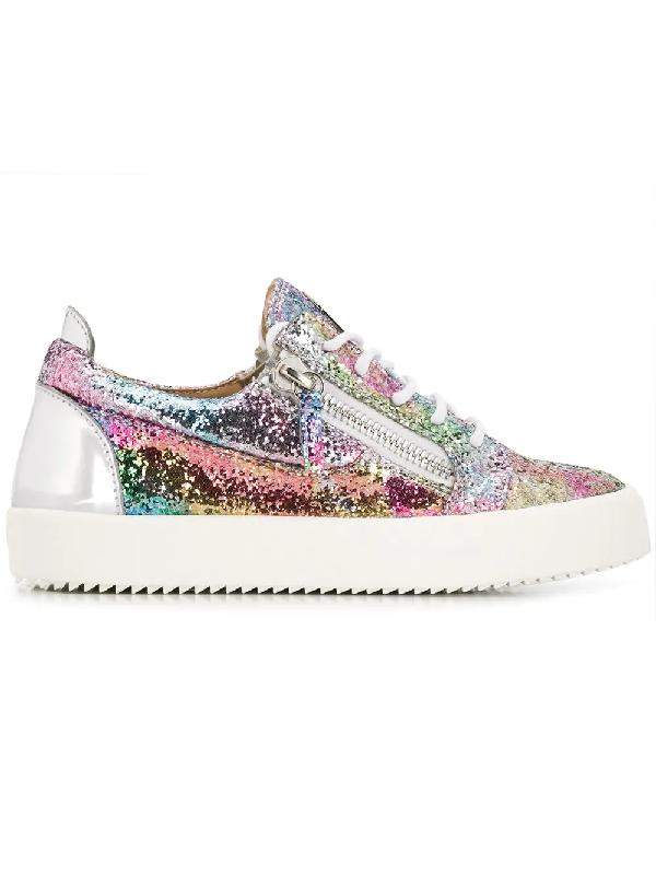 6f98b0b14145e Giuseppe Zanotti Women's Glitter Low-Top Platform Sneakers In 027 Multi