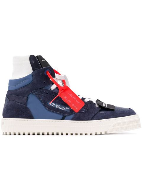 """Off-White """"Off-Court"""" 3.0 Blue Leather Hi-Top Trainers"""