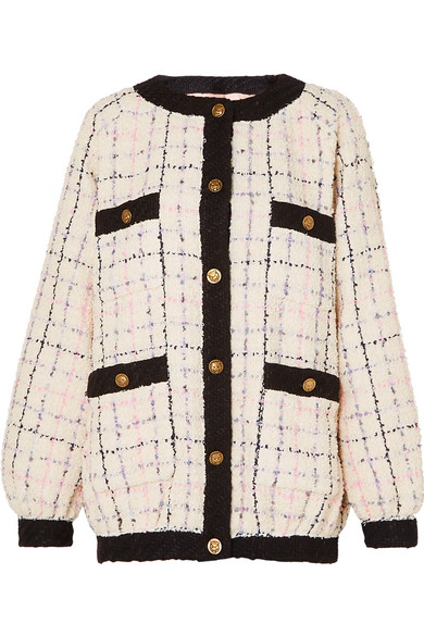 280692c08d3 Gucci Cotton-Blend BouclÉ-Tweed Bomber Jacket In Ivory