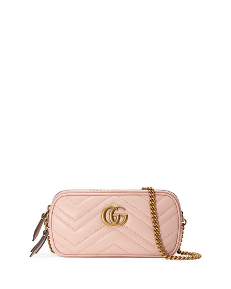 a3ed60b20ad31f Gucci Gg Marmont Mini Zip-Top Camera Case Bag In Light Pink | ModeSens
