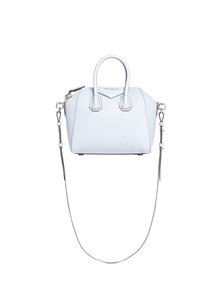 eb808609e8e Givenchy 'Small Antigona' Sugar Leather Satchel In Mineral Blue ...