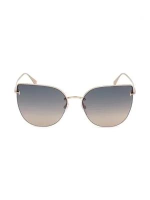 8668d099f09d Tom Ford Ingrid 60Mm Cat Eye Sunglasses In Beige Grey