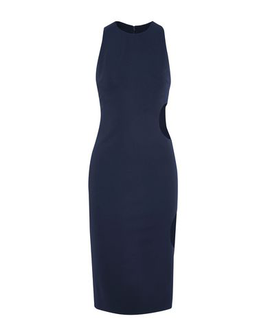 Cushnie Et Ochs Midi Dress In Dark Blue