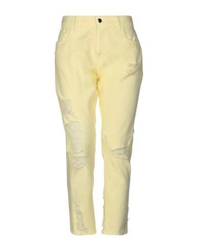 Marco Bologna Denim Pants In Yellow