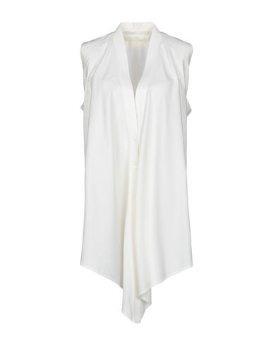 Marc Le Bihan Solid Color Shirts & Blouses In Ivory