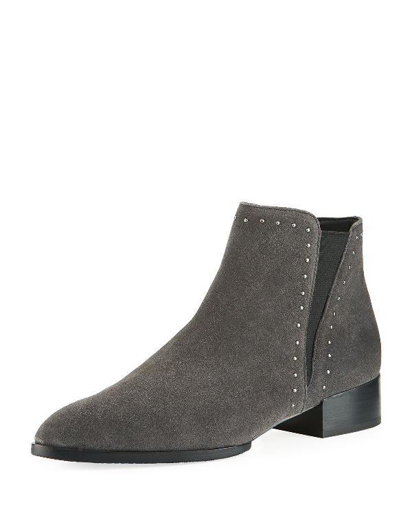 beb02dba50a Gavi Studded Double Gore Booties in Charcoal
