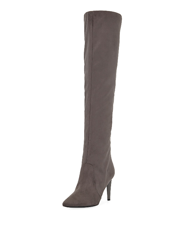 320ed579e Kendall + Kylie Zanna Slouchy Suede Over-The-Knee Boots In Gray ...