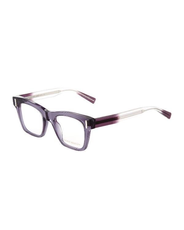 3c7223e0916a BOUCHERON. Oversized Square Ombre Translucent Acetate Optical Glasses in  Gray