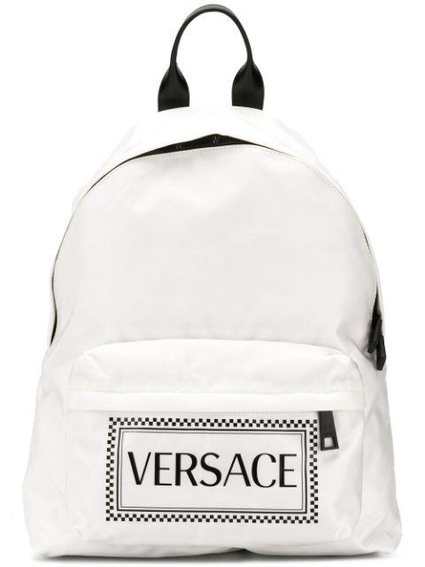 Versace Two-tone Logo Backpack In Dwnxn