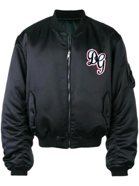 Dolce & Gabbana Padded Varsity Jacket - Black