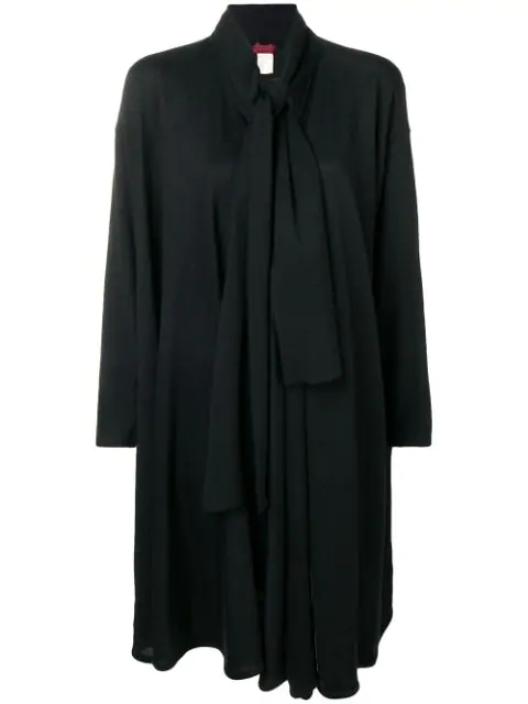 Kenzo Tie Neckline Draped Jacket In Black